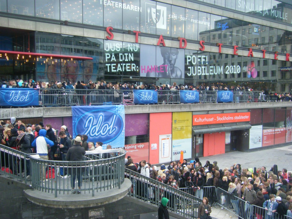 Idol auditions in Stockholm