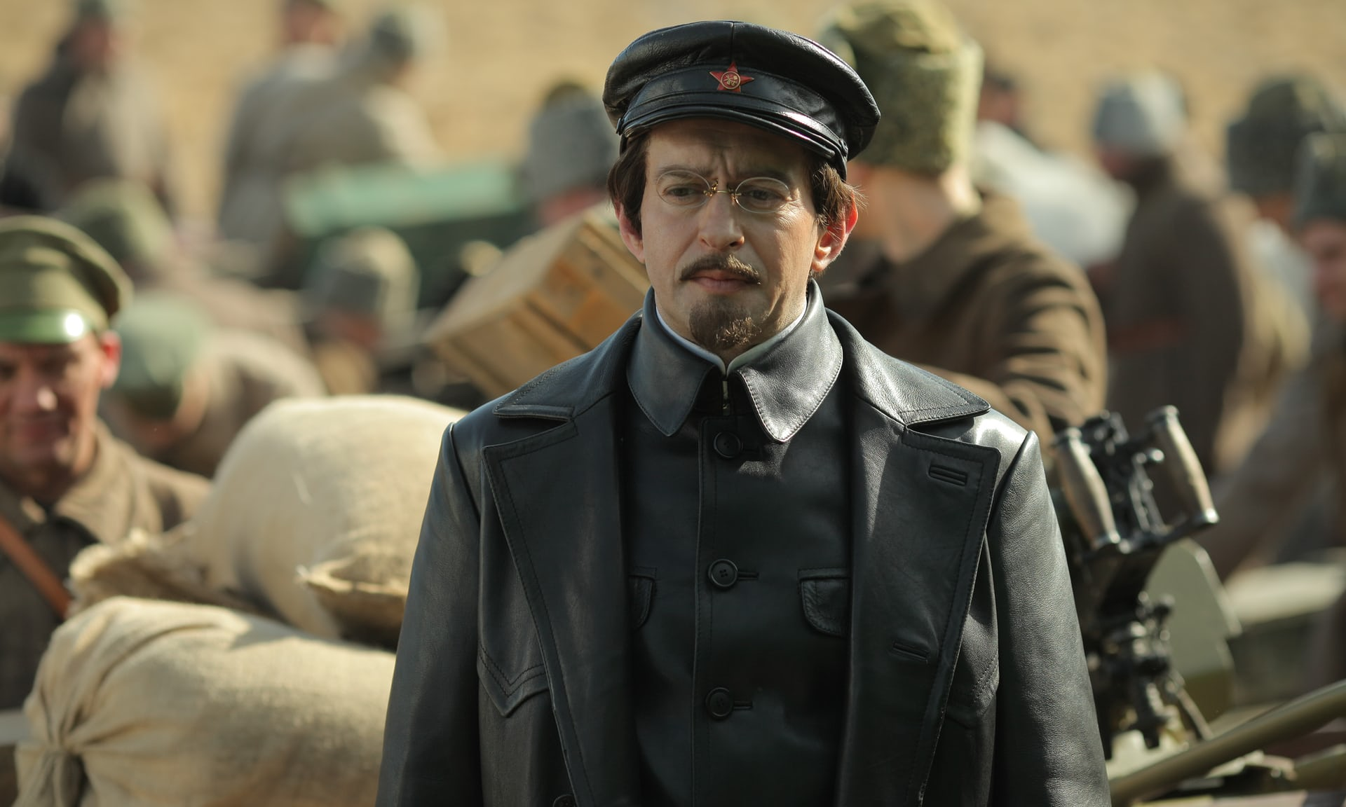 Konstantin Khabensky as Leon Trotsky in Russia's 2017 Channel One 'historical' drama 'Trotsky'